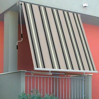 Tenda da sole a caduta con bracci 3 x 2.45 m verde