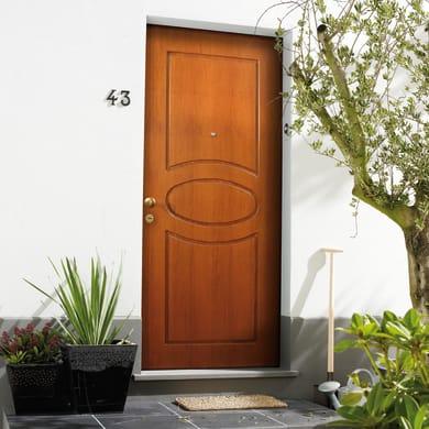Porta blindata Gold noce L 90 x H 210 cm destra