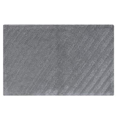 Tappeto bagno rettangolare Remix granit in cotone grigio 80 x 50 cm