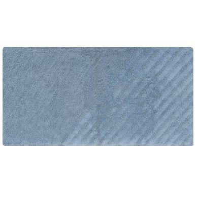 Tappeto bagno rettangolare Remix fjord in cotone blu 120 x 60 cm