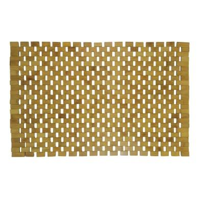 Tappeto bagno rettangolare Borneo precise in bambù marrone 80 x 50 cm