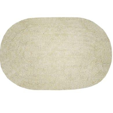 Tappeto bagno ovale Funky in cotone beige 60.0 x 40.0 cm