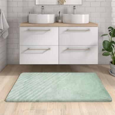 Tappeto bagno rettangolare Remix laguna in cotone verde 120 x 60 cm