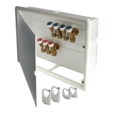 Cassetta collettore per riscaldamento a pavimento ad acqua