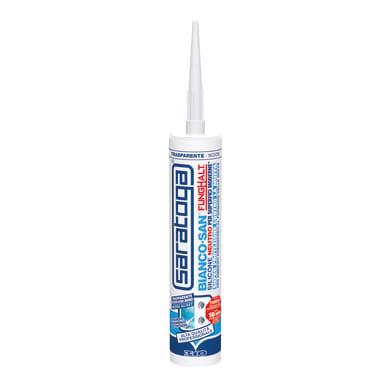 Silicone SARATOGA Biancosan neutro trasparente riflesso acqua marina 310 ml