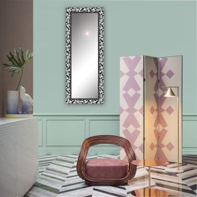 Specchio a parete rettangolare Atena nero 40x125 cm