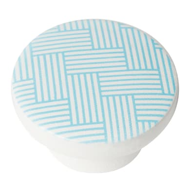 Pomolo in legno blu dipinto Ø 38 mm