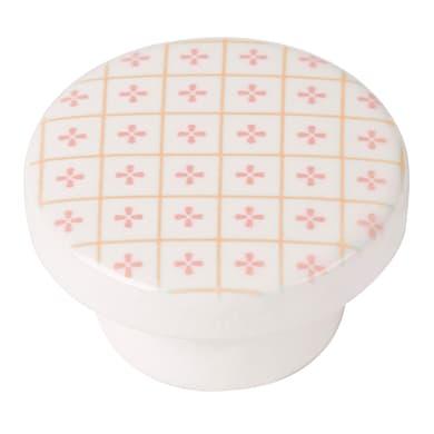 Pomolo per mobile in legno rosa laccato Ø 38 mm
