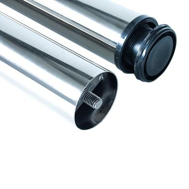 Gamba mobili EMUCA acciaio grigio cromato Ø 60 mm x H 85 cm 4 pezzi