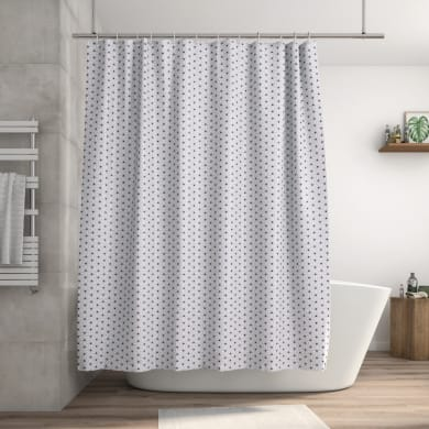 Tenda doccia Atomic Paris in poliestere multicolre L 180 x H 200 cm