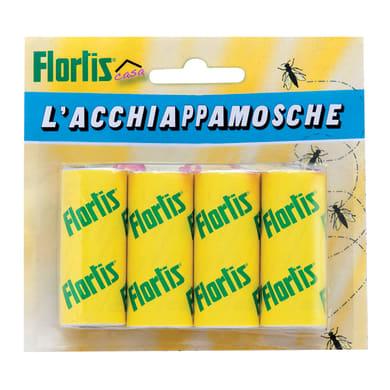Adesivo repellente trappola per mosche FLORTIS L'ACCHIAPPAMOSCHE - STRISCE 4 pezzi