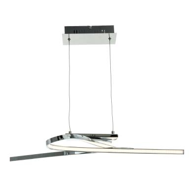 Lampadario Symphonie cromo, in alluminio,  LED 2luci EGLO