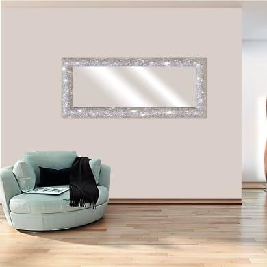Specchio a parete rettangolare Glitterata argento 62x162 cm