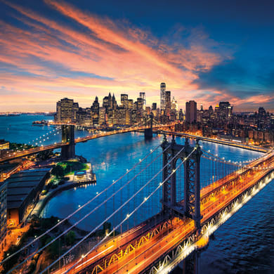 Sticker Ponte di Manhattan 19x19 cm
