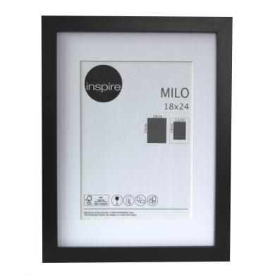 Cornice con passe-partout Inspire milo nero 18x24 cm