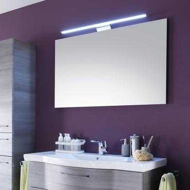 Specchio con faretto bagno rettangolare Solitaire L 90 x