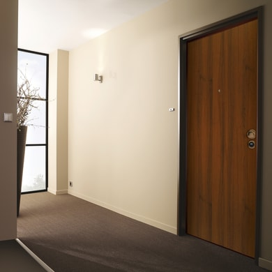 Porta blindata Bicolor noce L 80 x H 200 cm sinistra