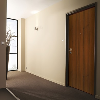 Porta blindata Bicolor noce L 80 x H 210 cm destra