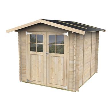 Casetta da giardino in legno Cortina,  superficie interna 4.28 m² e spessore parete 25 mm