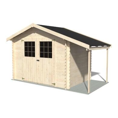 Casetta da giardino in legno Casetta Flodopi 6.53 m² spessore 28 mm