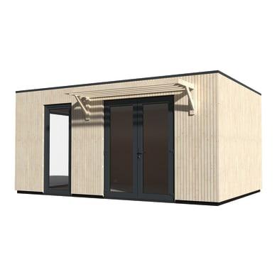 Casetta da giardino in legno Studio Como 17,  superficie interna 17.06 m² e spessore parete 90 mm