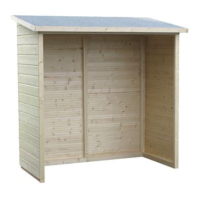 Legnaia in legno DECOR ET JARDIN L 170 x H 181 x P 81 cm trasparente
