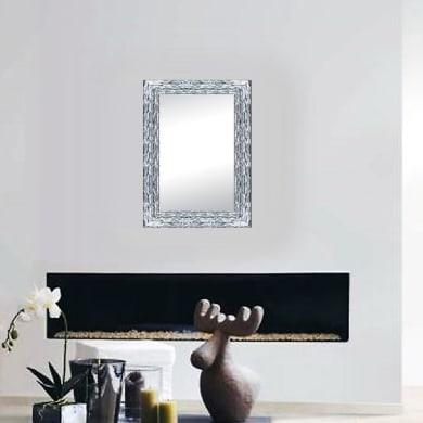 Specchio a parete rettangolare Teresa argento 68x88 cm