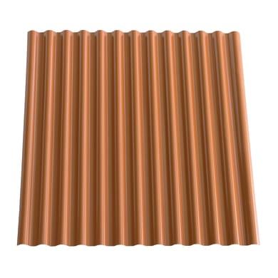 Lastra ondulata TECNOIMAC Ecolina in ecotres® 110 x 120 cm, Sp 1.8 mm terracotta