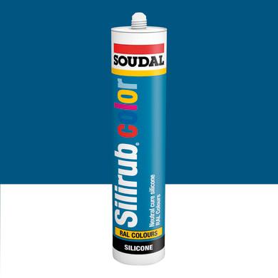 Silicone SOUDAL Multiuso Colorato RAL 5010 blu genziana 300 ml