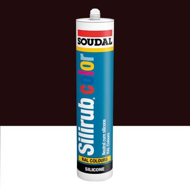 Silicone SOUDAL Multiuso Colorato RAL 3007 rosso nerastro 300 ml