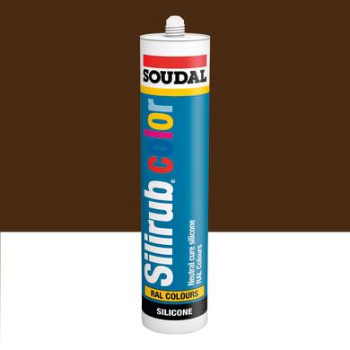 Silicone SOUDAL Multiuso Colorato RAL 8014 marrone seppia 300 ml