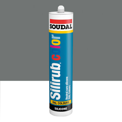 Silicone SOUDAL Multiuso Colorato RAL 9007 aluminio grigiastro 300 ml