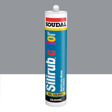 Silicone SOUDAL Multiuso Colorato RAL 9006 aluminiobrillante 300 ml
