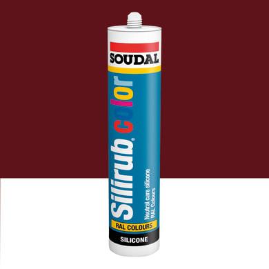 Silicone SOUDAL Multiuso Colorato RAL 3005 rosso vino 300 ml
