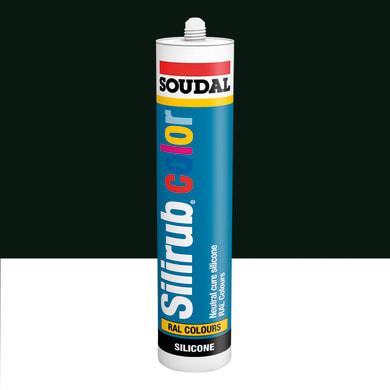 Silicone SOUDAL Multiuso Colorato RAL 6009 verde abete 300 ml