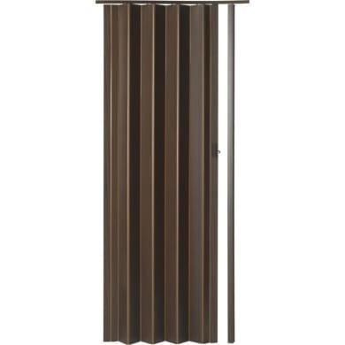 Porta pieghevole Rio in pvc marrone L 83 x H 214 cm