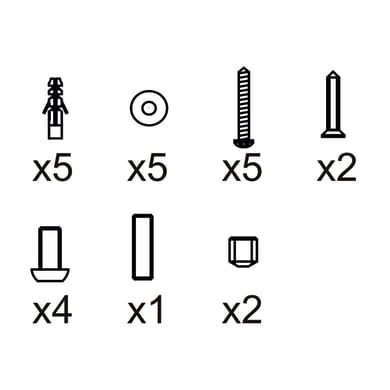 Kit di fissaggio in abs