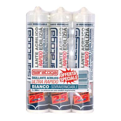 Sigillante SARATOGA 25 minuti rapido Tris Pack bianco 300 ml