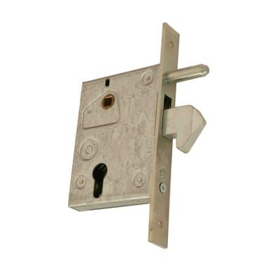 Serratura a incasso cilindro per cancello o rete, entrata 6 cm, interasse 72 mm sinistra e destra