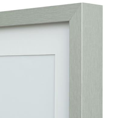 Cornice con passe-partout Inspire milo argento 40x50 cm