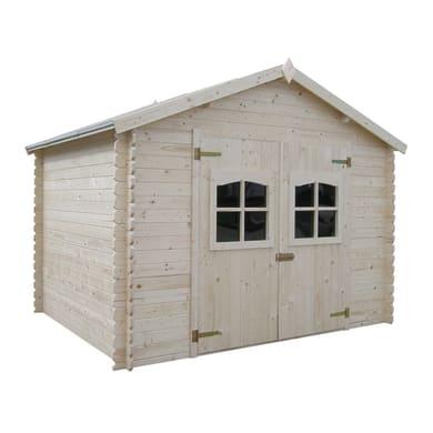 Casetta da giardino in legno Udaipur 7.55 m² spessore 28 mm