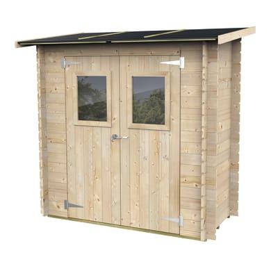Casetta da giardino in legno Violetta,  superficie interna 1.29 m² e spessore parete 19 mm