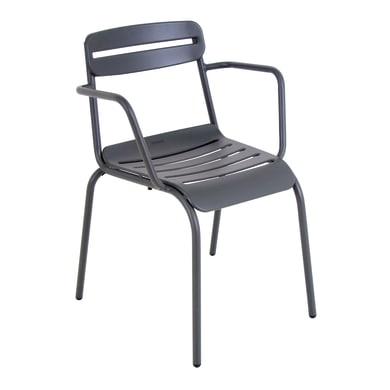 Sedia con braccioli in acciaio Tokyo OASI BY EMU colore grigio antracite