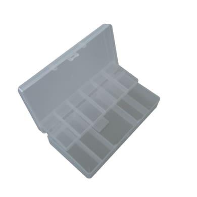 Ordinatore in plastica trasparente 2 scomparti