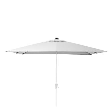 Ombrellone NATERIAL L 2.85 x P 2.85 m color bianco