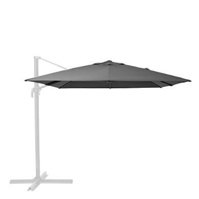 Telo di ricambio ombrellone aura NATERIAL colore antracite 281 x 386 cm
