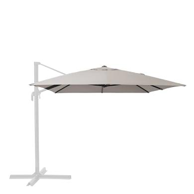 Telo di ricambio ombrellone aura NATERIAL colore tortora 281 x 386 cm