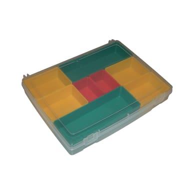 Ordinatore in plastica trasparente 8 scomparti