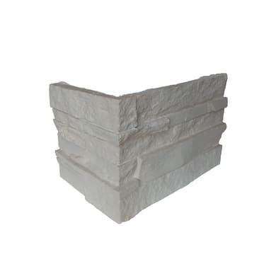 Angolo Bricostone 10 x 20 cm bianco