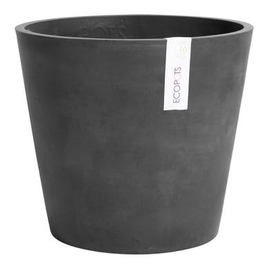 Barattolo Amsterdam ECOPOT'S in composito colore dark grey H 26.3 cm, Ø 30 cm